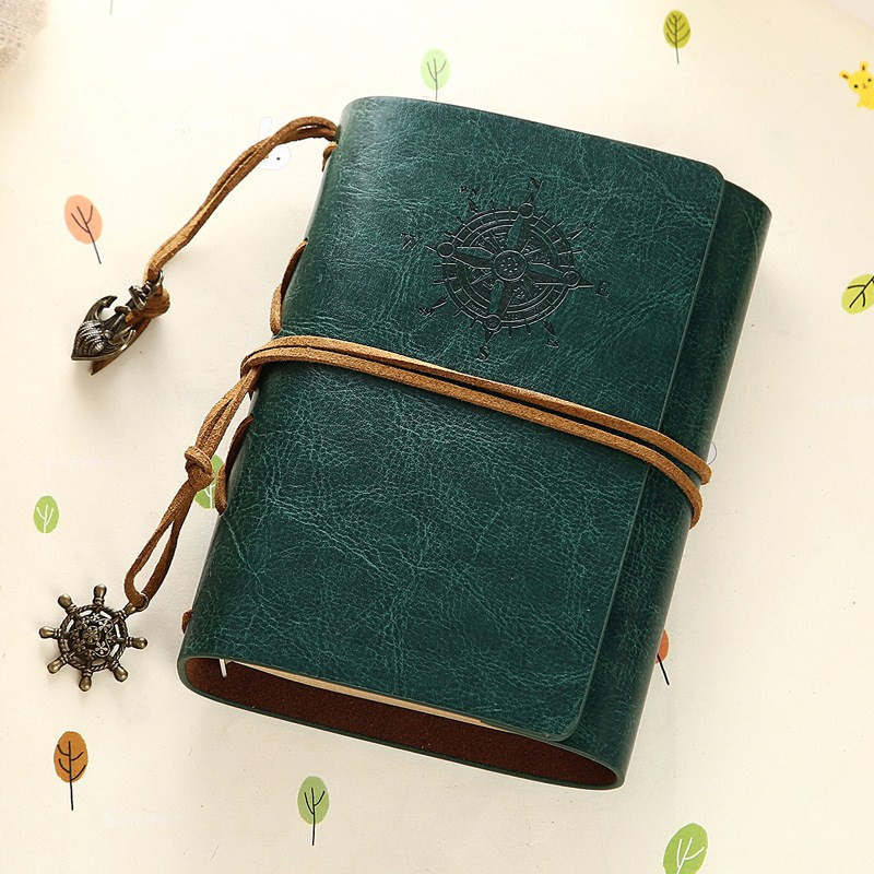 Vintage Notebook Leather Cover Journal Diary Blank String Nas