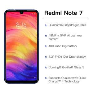"""Image 4 - 米国グローバルバージョン Xiaomi Redmi 注 7 3 ギガバイト 32 ギガバイトスマートフォンの Snapdragon 660 オクタコア 4000 2600mah の 6.3"""" 2340 × 1080 48 + 13 メガピクセル電話"""