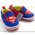 Retail 1pcs baby shoes for boy girls blue S superman baby cotton toddler shoes bebe size 2,3,4 for baby kids child first walker