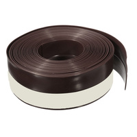 New 5M Self Adhesive Draught Excluder Strip Window Door Seal Weather Tape Rubber Brown