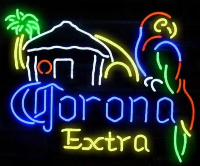Custom Corona Extra Beer Parrot Neon Light Sign Beer Bar