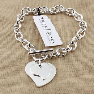 ed52c9f4a6b2 ᗜ LjഃSHIYING al por mayor pulsera de moda simple doble corazón ...