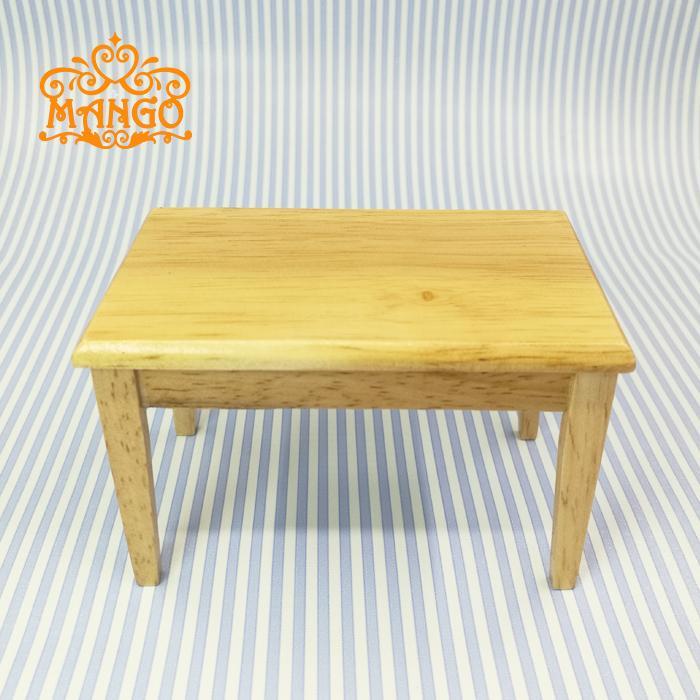 Mini Dollhouse Mini Restaurant Furniture Model Toy Wood Color Square Table Single Item