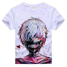 Japan Famous Anime Tokyo Ghoul 3D Printed Short Sleeve T shirt Homme Mens Cosplay Clothes Funny Tees Shirts Kids Children Gifts