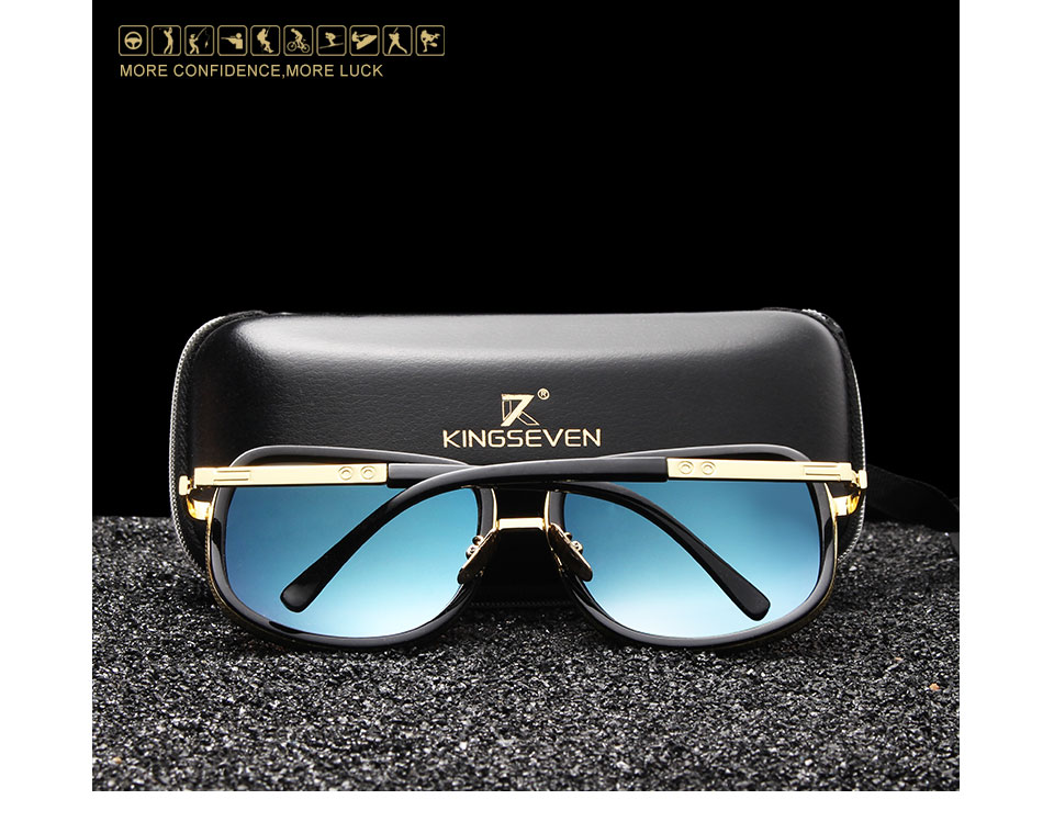 72db77cac8d Details about KINGSEVEN Men s Women s Retro Style Polarized Sunglasses UV  400 Protection