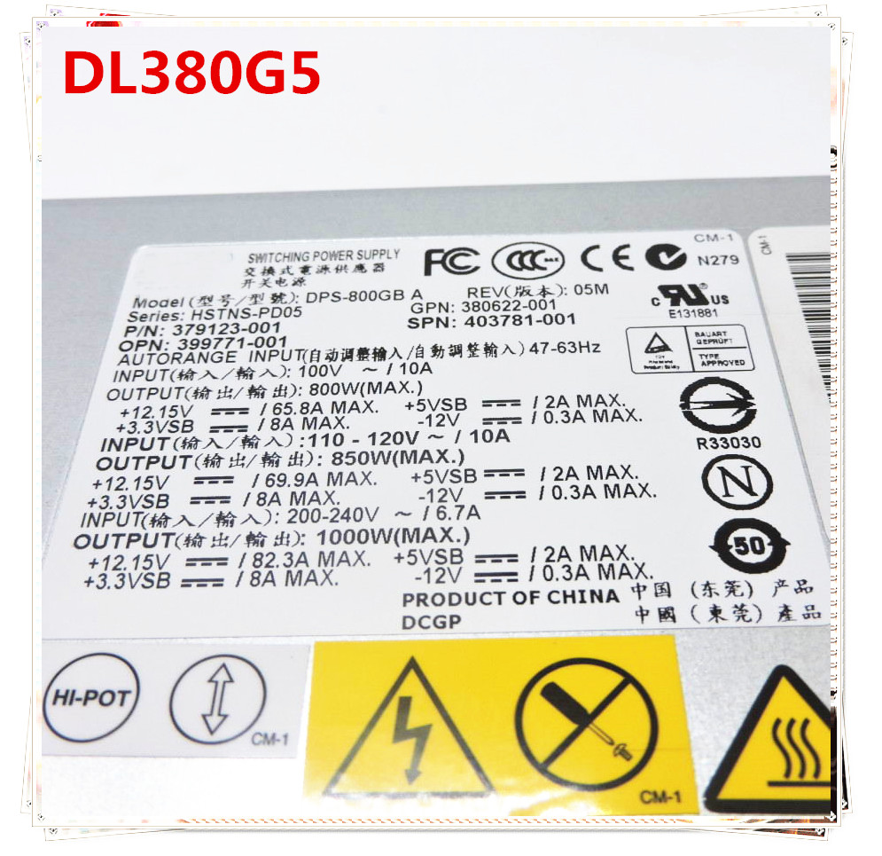 new and original for DL380G5 399771 B21 379123 001 403781 001