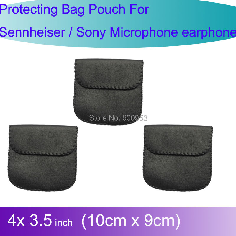 3pcs Pro Carry Case Protecting Bag Pouch For Sennheiser / Sony earphones Lavalier Microphone