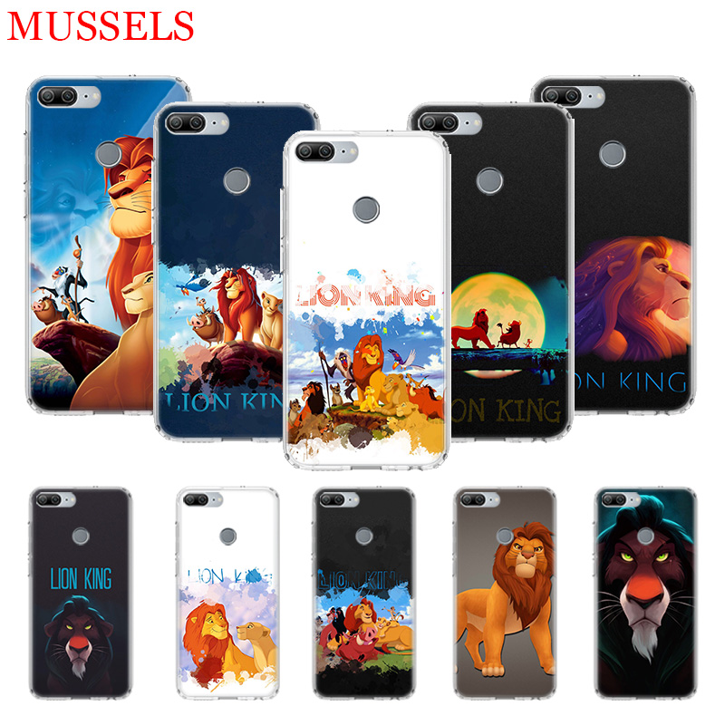 Simba The King Lion Printing Phone Case for Huawei Honor 8X 20 9 10 Lite 8A 10i 20i 8S V20 Y5 Y6 Y7 Y9 2019 Coque Cover Shell in Half wrapped Cases from Cellphones Telecommunications