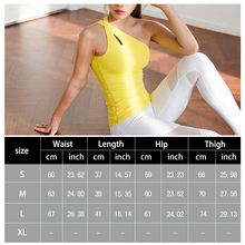 One Shoulder Women Shirt Yoga Top Quick-Dry Running Shirt Fitness Tops