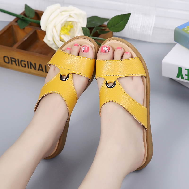 Aire 2019 Zapatillas Libre De Las Verano Sandalias Mujer Diapositivas Nuevas Flip Flops Mujeres yellow Playa white Al Blue 1ftzq1r
