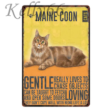 [ Kelly66 ] Maine Coon CAT Metal Sign Tin Poster Home Decor Bar Wall Art Painting 20*30 CM Size y-1795
