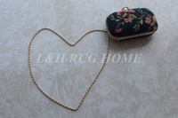 Antique needlepoint woolen handbag purse for parties and banquet women bag small bags