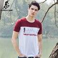 Pioneer camp 100% algodão masculino t-shirt da juventude cor hit curto manga comprida T-shirt dos homens t-shirts moda 2017 camiseta impressão 677001