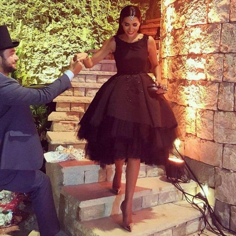 40036f33ba6 Hot Sale Black Cocktail Dresses Sexy Backless Chic Short Prom Dress 2016  Lace Applique Arabic Formal Wear Vestido De Festa Curto