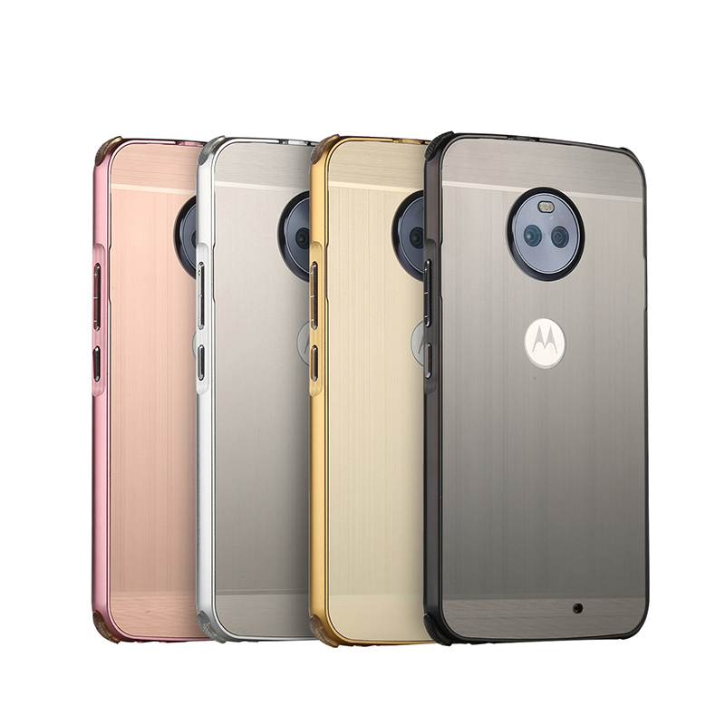 For <font><b>Motorola</b></font> MOTO <font><b>E4</b></font> <font><b>XT1762</b></font> XT1772 Case Brushed Back Cover Hard Case with Plating Metal Frame Case for <font><b>Motorola</b></font> MOTO <font><b>E4</b></font> <font><b>XT1762</b></font> image
