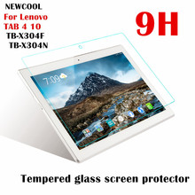 NEWCOOL para Lenovo TAB4 10 TAB 4 10 TB-X304N TB-X304F TB-X304 9 H Templado Protector de Pantalla de Cristal Protector de la Película Protectora