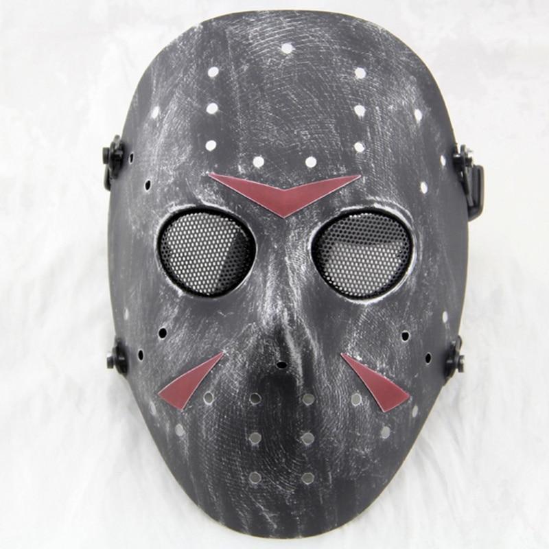 Airsoft Paintball Jason Hockey Full Face Cosplay Halloween Mask Mesh Skull Military Army Wargame Tactical Masks