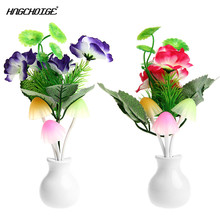 HNGCHOIGE Sensor Night Light Plum Blossom Flower LED Lamp US Plug 220V Romantic Home Decor