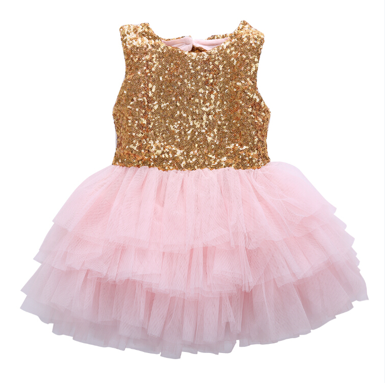 e0f39aa61 Princess Kids Baby Girls Sequins Dress Sleeveless Toddler Baby Party ...