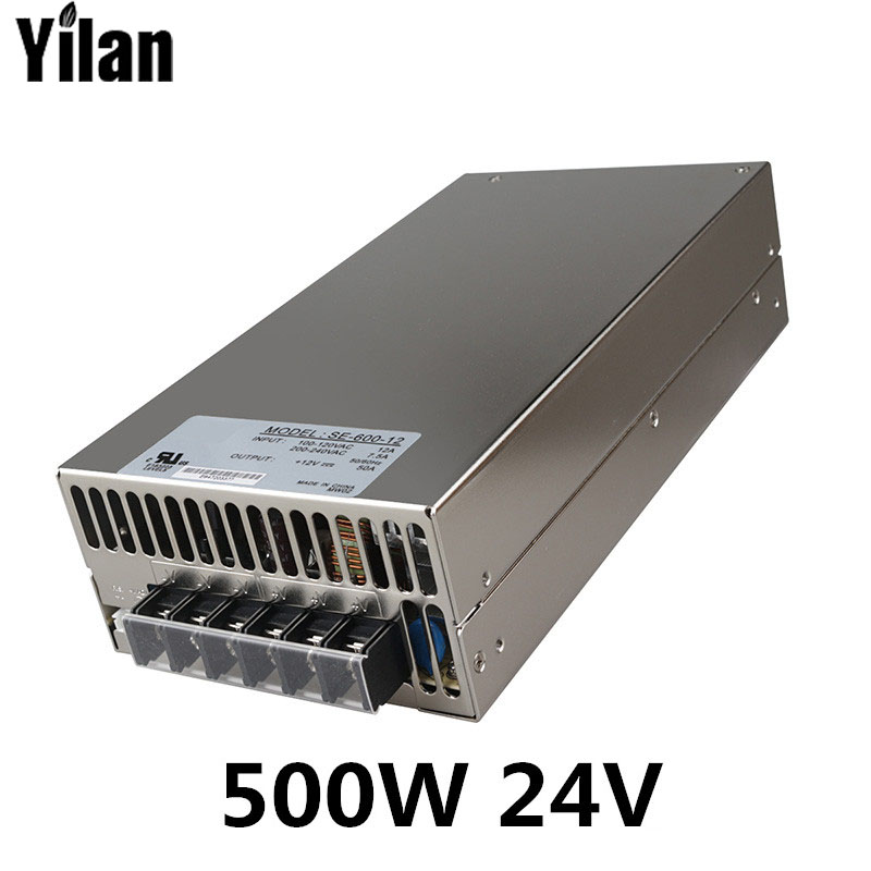 500W 24V 20A 220V INPUT Single Output Switching power supply for LED Strip light AC to DC 1200w 12v 100a adjustable 220v input single output switching power supply for led strip light ac to dc