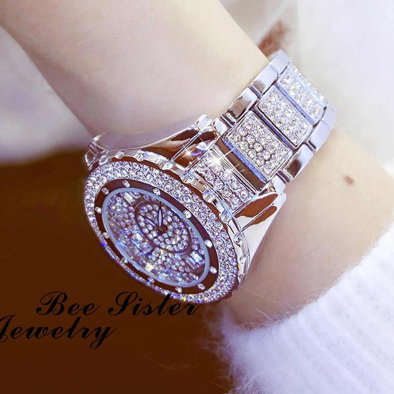 Новинка 2019, роскошные женские часы с бриллиантами, Топ бренд, элегантное платье, кристалл, кварцевые часы, женские наручные часы, Relogios Femininos 2018