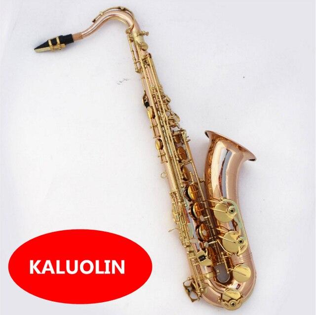 2017 kaluolin ТОП си-бемоль тенор-саксофон бронза медь бесплатная доставка