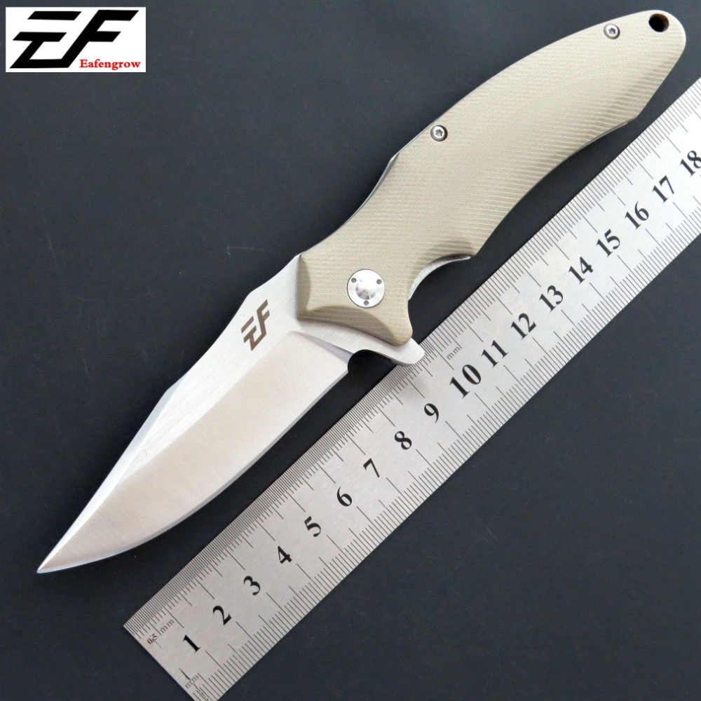 High quality  EF339 pocket knife D2 steel blade G10 handle outdoor camping hunting survival EDC tool