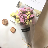 Mixed Color Pink Yellow Forget Me Not Eternal True Dried Flowers Display Bouquet For Home Display