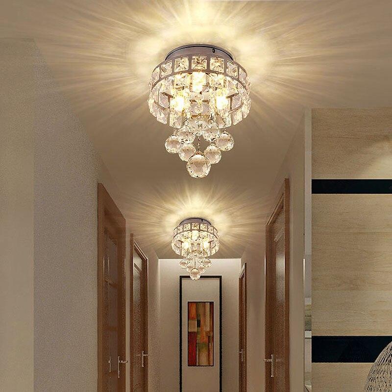 Us 32 2 30 Off Moderne Kleine Kristall Decke Lichter Veranda Licht Flure Led Deckenleuchte Flur Schlafzimmer Kinder Der Madchen Zimmer Lampe