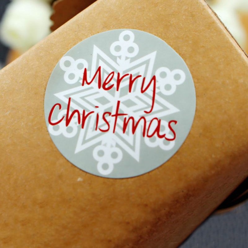 75pcs Merry Christmas Paper Stickers Crafts DIY Gift Box Bags Decorative Sticker For Christmas New Year Party Gift Decoration
