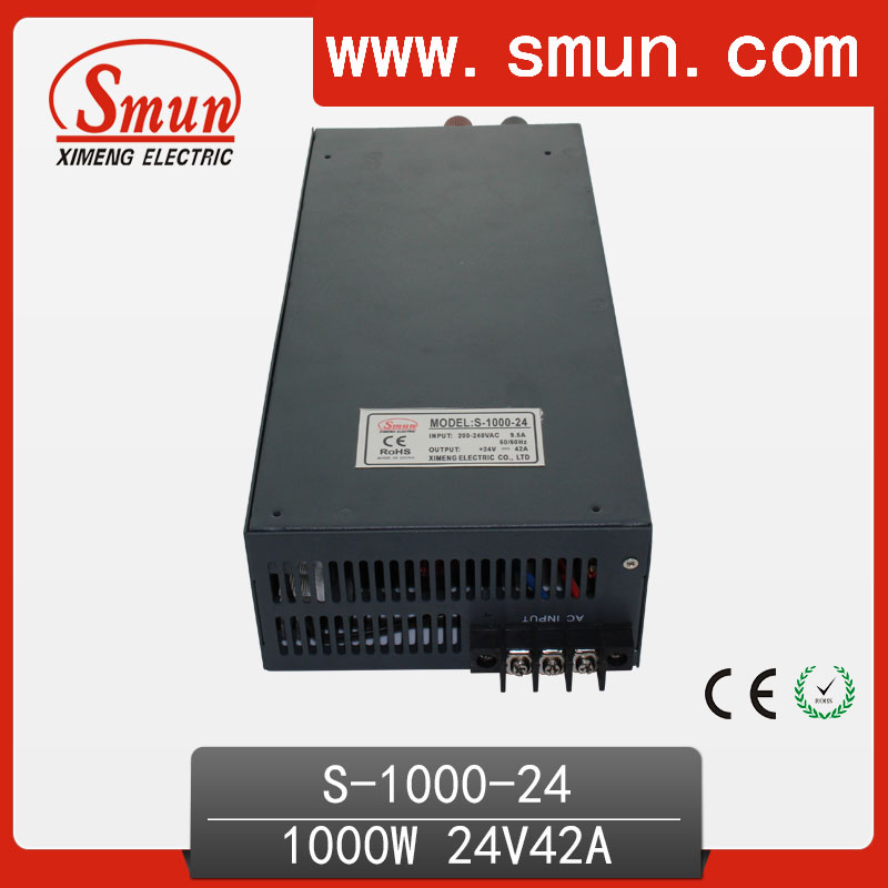 цена 1000W 24V 42A High Efficiency High Power Switching Power Supply For Industrial Control Transformer