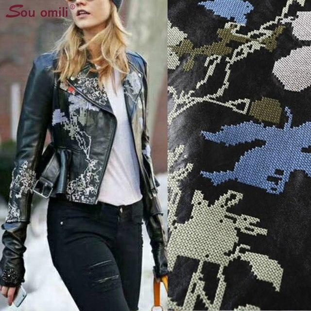 e0e739245cec Black Embroidery Leather Jacket Women Punk Moto Coat Winered Faux Jacket  jaquetas couro Casaco chaquetas PU Jacket Flower Belt
