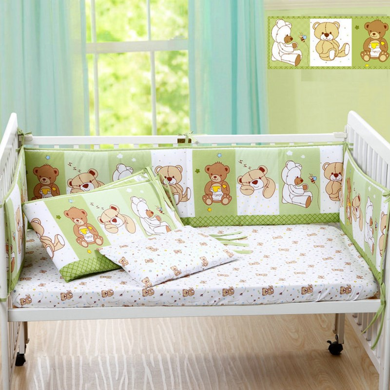 cute kawaii cartoon cotton baby bed crib bumper for baby crib
