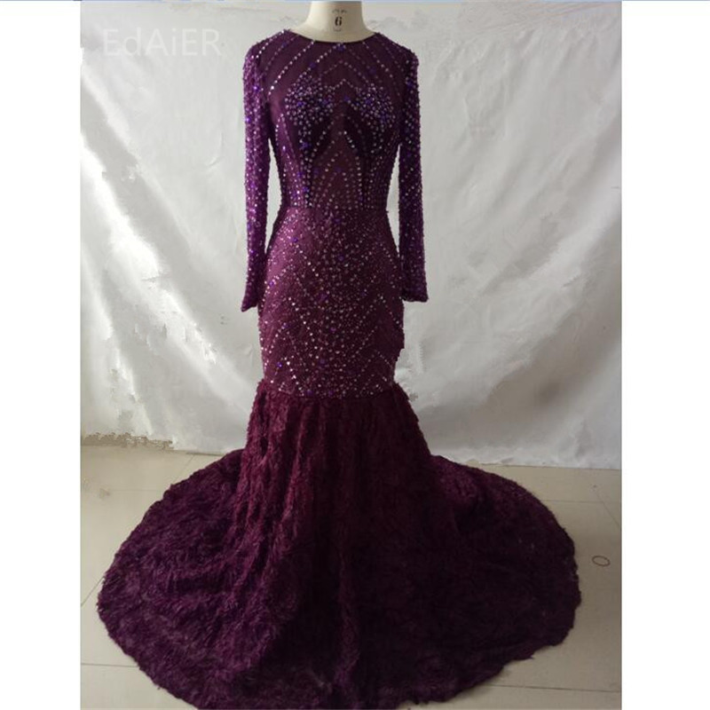 2019 Sexy sirène cristaux robes De soirée luxueuses robes formelles robes De soirée Vestudo De Festa longue robe De soirée-26