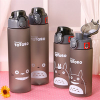 500ml 700ml Cartoon Cat Plastic Sports Water Bottle Space Cup Young Bike Outdoor Climbing Camp Powder