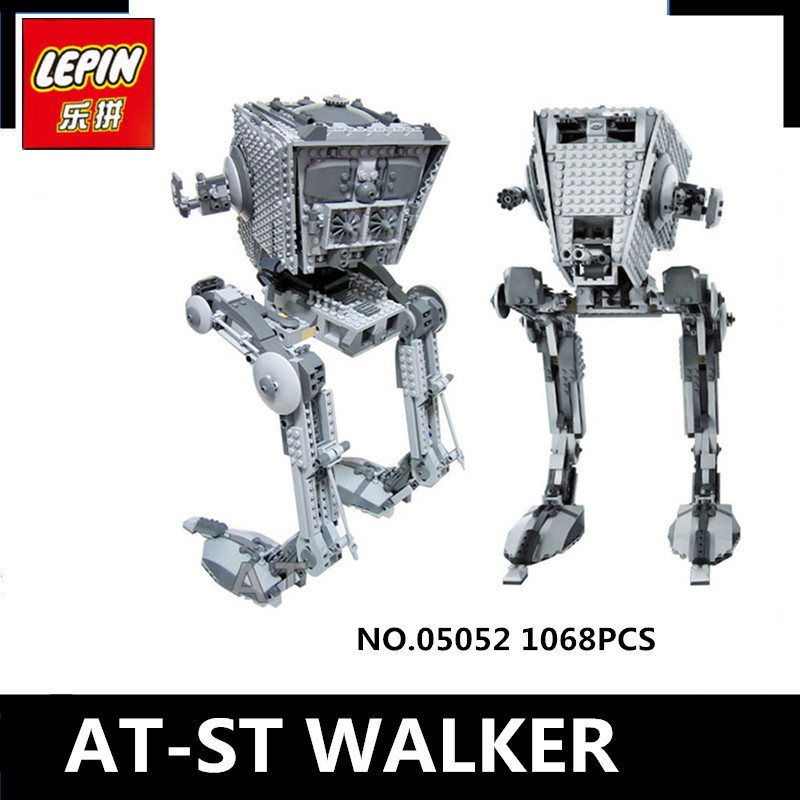 IN STOCK  Lepin 05052 1068PCS New Series The Empire AT-ST Robot Building Blocks Bricks Set Toys 10174 gonlei in stock 05052 1068pcs new star war series the empire at st robot building blocks bricks set toys 10174