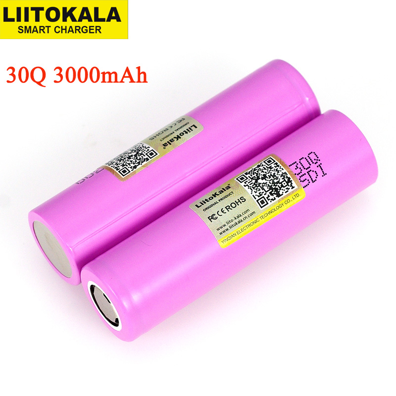 Liitokala 3.6V 18650 Original INR18650 30Q 18650 3000mAh 3.7v lithium Rechargeable battery Electronic tools Batteries-in Replacement Batteries from Consumer Electronics