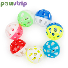 pawstrip 5pcs/lot Cat Ball Toy With Jingle Bell Inside Kitten Toys Pet Teaser Colorful Balls For Cats Diameter 3.5 cm