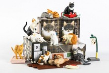 solid pvc figure pet cats animals models toys children birthday gift toys holiday gift ornaments 10pcs/set
