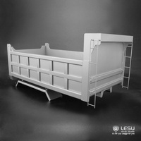 1/14 грузовик гидравлический самосвал коробка ковш для жестких рабочих режимов нержавеющая сталь квадратный ковша модель LS 20160811 D RCLESU Tamiya сам