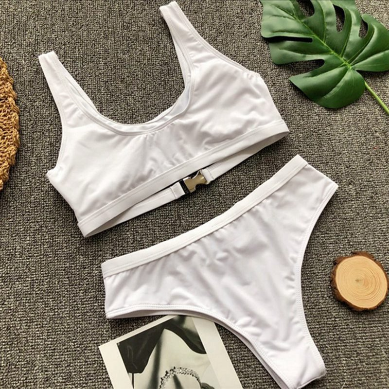 Vertvie Bikini 2019 Swimwear Women Swimsuit Sexy Bikini Set Solid Bathing Suit Brazilian Beachwear Push Up Maillot De Bain Femme