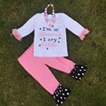 girls fall clothes I am so glamorous I cry glitter girls boutique outfits kids white Capri set  with necklace and headband