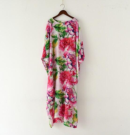 Neue Ankunft 2016 das meiste schöne Blumendruck Baumwollleinenkleid, - Damenbekleidung - Foto 2