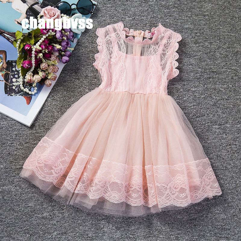 Flower Girl Ball Gown Dresses for Weddings Sleeveless Tutu Elegant Baby Clothing for Birthday Evening Party Free Shipping