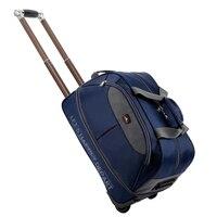 Heißer! neue Wasserdichte Trolley koffer studenten Verdicken Roll gepäck Trolley tasche Frauen & Männer Reisetaschen Tragen auf Mit Räder