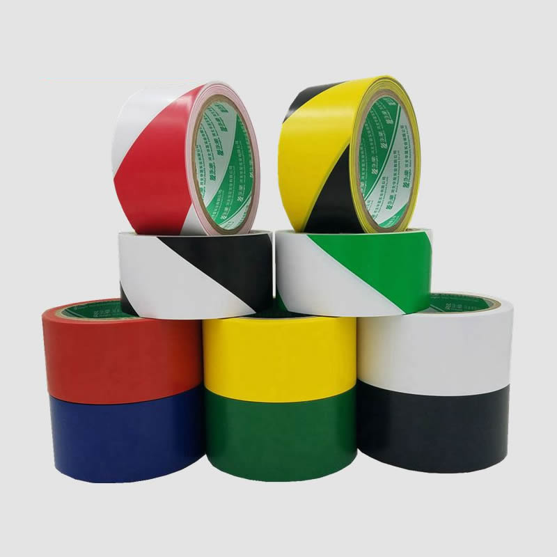1-Roll 48mm*18m Waterproof PVC Safety Warning Tape Anti-Skid Caution Barrier Carpet Sticker For Warehouse Factory School Home