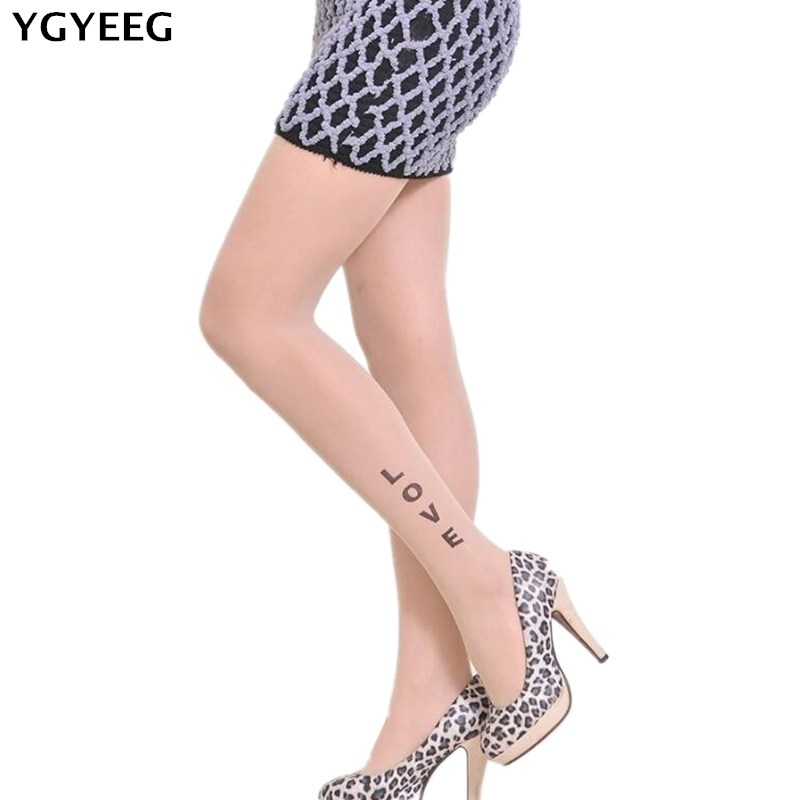 YGYEEG Tight 2018 Fashion Women Sexy Stockings Lady Print Pattern Pantyhose Stockings Tights Femme Tights Skinny Legs Pantyhose