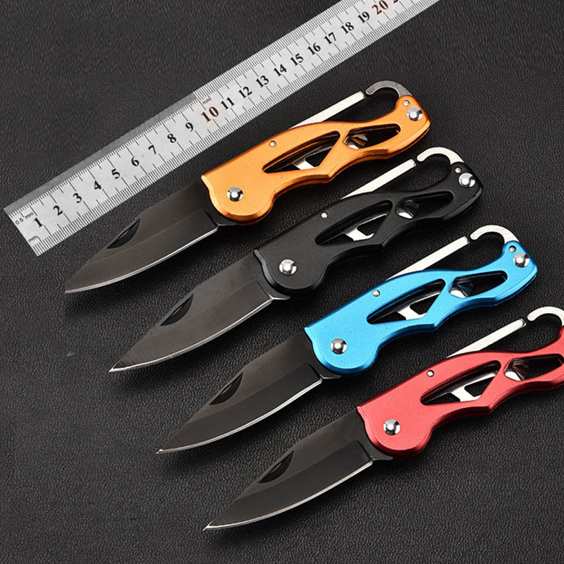 купить Multifunction Folding Fold Knife Portable Key Ring Camping Mini Peeler Keychain Tactical Rescue Survival Outdoor Tool Hunting онлайн