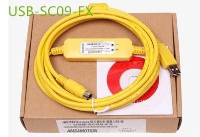 все цены на  1PCS USB-SC09-FX PLC Yellow Programming Cable SC-09 SC09 FX FX1N / FX2N / FX1S / FX3U PLC programming cable  онлайн