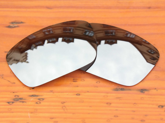 Polycarbonate-Chrome Silver Mirror Replacement Lenses For Fuel Cell Sunglasses Frame 100% UVA & UVB Protection
